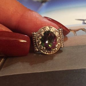 Stunning Mystic Topaz & Chrome Diopside Accents